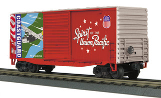 30-74924 O Scale MTH RailKing 40' High Cube Box Car-Union Pacific(Coast Guard-Spirit of Union Pacific)