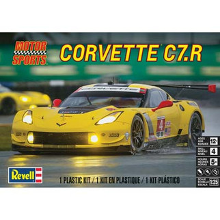 85-4304 Revell Corvette C7.R 1/25 Scale Plastic Model Kit