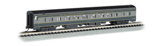 14253 N Scale Bachmann 85' Smooth Sided Coach w/Lighted Interior-B&O