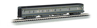 14353 N Scale Bachmann 85' Smooth Side Observation w/Lighted Interior-B&O