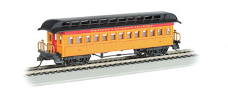 15101 HO Scale Bachmann Old-Time Coach w/Rounded-End Clerestory Roof-Western & Atlantic RR