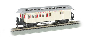 15203 HO Scale Bachmann Old-Time Combine w/Rounded End Clerestory Roof-North Central RR