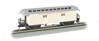 15303 HO Scale Bachmann Old-Time Baggage w/Rounded End Clerestory Roof-North Central RR