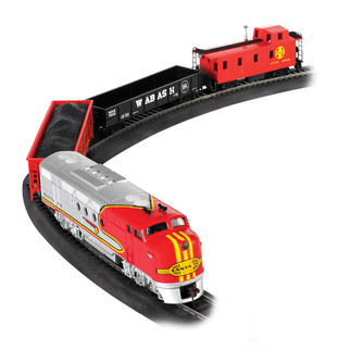 00647 HO Scale Bachmann Santa Fe Flyer Train Set