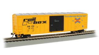 14901 HO Scale Bachmann 50' Outside Braced Box w/FRED Railbox