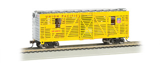 19701 HO Scale Bachmann 40' Animated Stock Car w/Horses Union Pacific