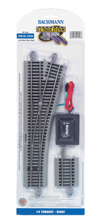 44558 HO Scale Bachmann #4 Turnout-Right