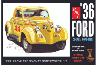 AMT824 AMT '36 Ford Coupe/Roadster 1/25 Scale Plastic Model Kit