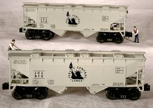 96326 O Scale Ready Made Trains 4-Bay Hopper-CNJ