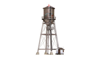 BR4954 N Scale Woodland Scenics Rustic Water Tower Built-Up