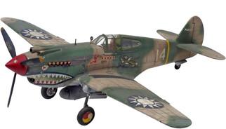85-5209 Revell P-40B Tiger Shark 1/48 Scale Plastic Model Kit
