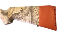 slip on rubber recoil pad shoulder protection shotgun rifle brown