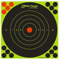 "Max-Target Sighting In Bullseye Splatter Reactive Target 8"" - 10 Pack"