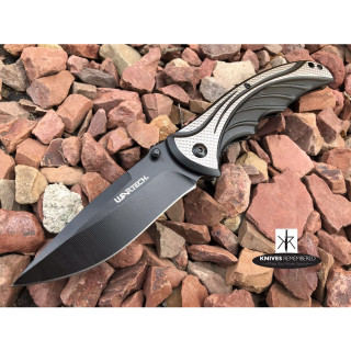 """8.375"""" Drop Point Assist Open POCKET RAZOR BLADE Knife for Camping Hunting Outdoor Black - CUSTOM ENGRAVED"""