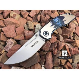 Japanese Hannya Pocket Knife - PWT262C - Custom Engraved