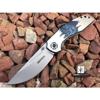 Japanese Hannya Pocket Knife - PWT262D - Custom Engraved