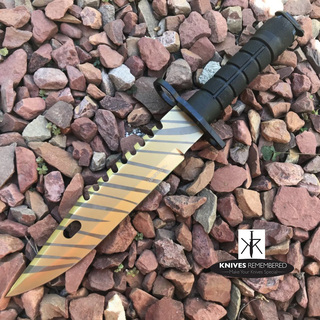 "12"" Jungle CS.GO Fixed Blade Combat Knife - HWT215TC - Custom Engraved"
