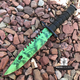 "12"" Jungle CS.GO Fixed Blade Combat Knife - HWT215GN - Custom Engraved"