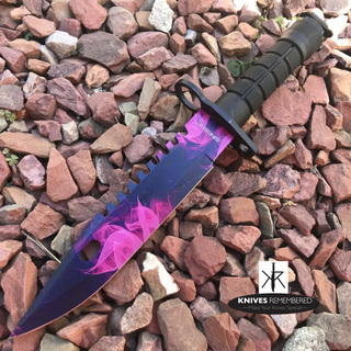"12"" Jungle CS.GO Fixed Blade Combat Knife - HWT215PP - Custom Engraved"