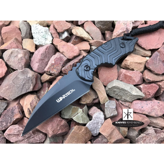 Combat Boot Neck Knife - HWT201BK - Custom Engraved