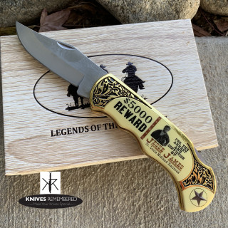 JESSE JAMES MEMORABILIA KNIFE - YC302JJ - Custom Engraved