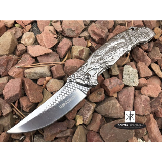 "8 1/4"" Japanese Samurai Bushido Collectible Hunting Camping Assisted Open Pocket Folding Knife Wartech Razor Blade Silver - CUSTOM ENGRAVED"