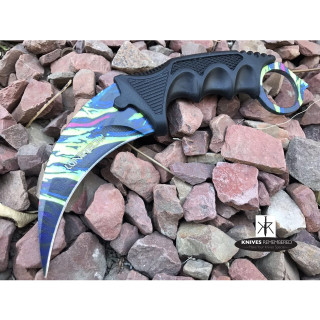 Cs Go Tactical Karambit Hawkbill Knife Survival Hunting Fixed Blade ABS Handle Paint- CUSTOM ENGRAVED
