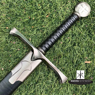Crusader (Cross) Medieval Knight Warrior's Arming Sword with Scabbard - CUSTOM ENGRAVED