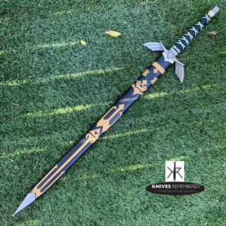 Legend of Zelda Dark Master Sword Skyward Limited Edition Deluxe Replica - CUSTOM ENGRAVED