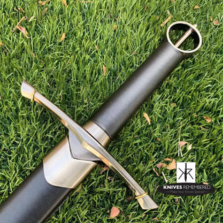 Irish Celtic Medieval Knight Warrior's Arming Sword with Scabbard - CUSTOM ENGRAVED