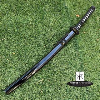 Iaito Unsharpened Blade Training Practice Sword w/ Scabbard (Crane Tsuba - Wakizashi) - CUSTOM ENGRAVED