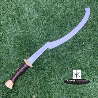 Official Licensed Assassin's Creed Origins Egypt Khopesh Sword w/Leather Sheath - Custom Engraved