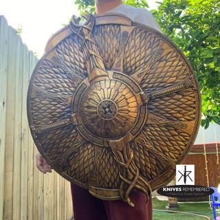 1:1 God of War The Guardian Kratos Shield Halloween Cosplay Props - CUSTOM ENGRAVED