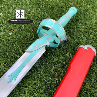 "41"" Sword Art Online SAO Asuna Yuuki Lambient Light Carbon Steel Sword - CUSTOM ENGRAVED"