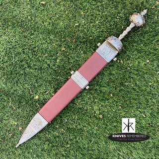 Roman Maximus Gladius Gladiator Sword with Scabbard - CUSTOM ENGRAVED