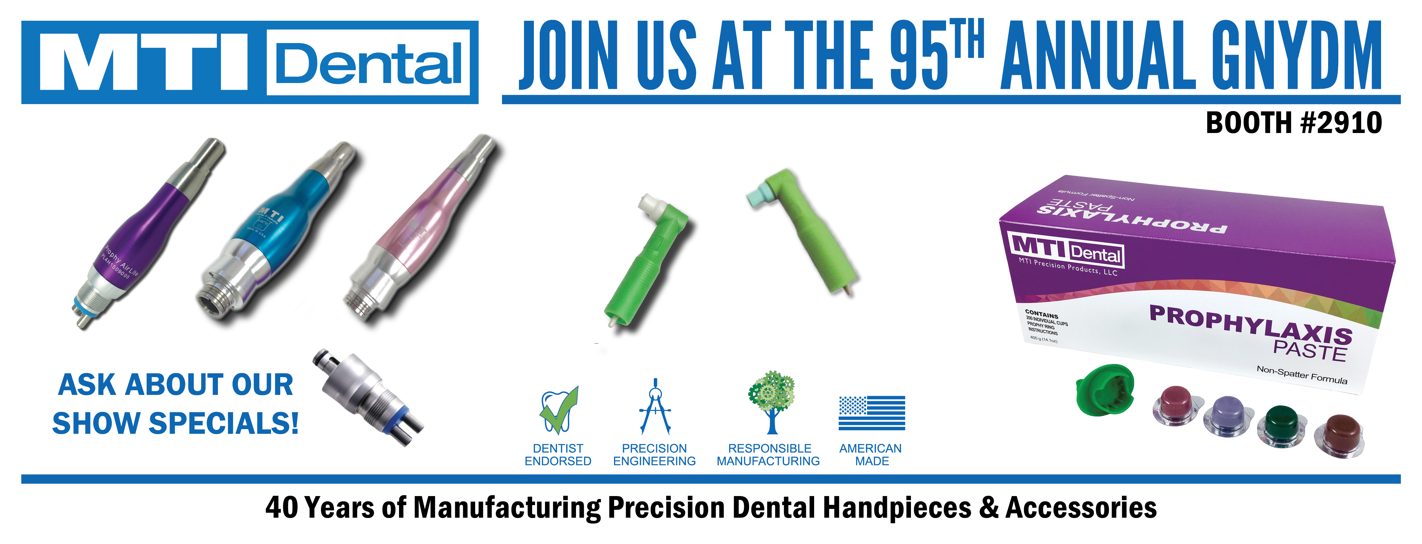 Meet the MTI Dental Team at the 2019 Greater New York Dental Meeting