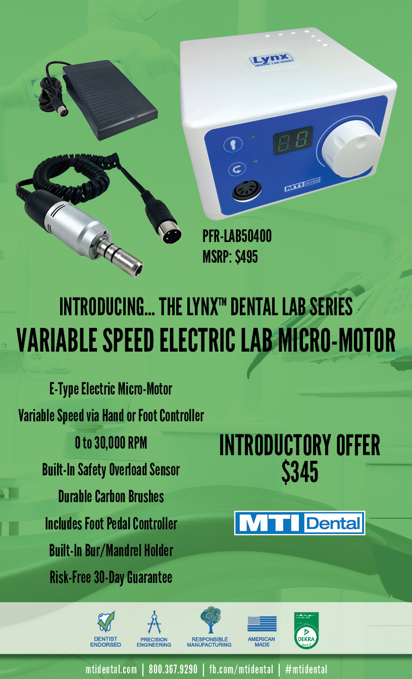 LYNX Dental Lab Series: Variable Speed Electric Lab Micro-Motor