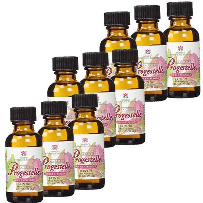 Bulk Discount 9 bottles of Progestelle Progesterone Skin Oil.