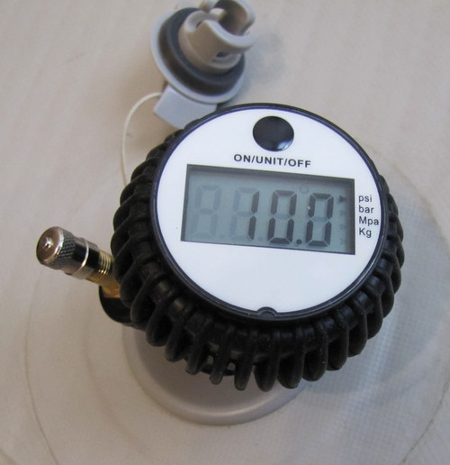 Use this tool to check the PSI to one tenth of a pound for consistent performance and to adjust for desired firmness.  Keep your board at max PSI for racing or challenging conditions.  Lower the PSI for family fun days when you want a more forgiving deck for kits and pets easy on and off your board.