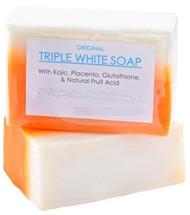 KOJIC ACID, PLACENTA, & GLUTATHIONE TRIPLE WHITE SOAP APPX. 150GMS