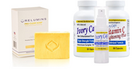 Relumins Yellow Acne Clear Soap + (System 1) Ivory Caps Skin whitening: Advanced System for more intensive result