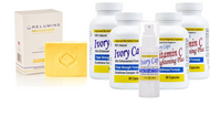 Relumins Yellow Acne Clear Soap + (System 2) Ivory Caps Skin whitening: Advanced System for more intensive result
