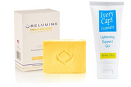 Relumins Professional Acne Clear Soap + Ivory Caps Intimate Parts Lightening Gel