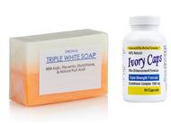 GC3 - Glutathione Triple White Soap + Ivory Caps Pills Skin Whitening Capsules