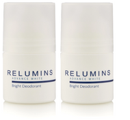 Authentic Relumins Advance White Bright Antiperspirant Roll-On - Whitening Deodorant (Pack of 2)