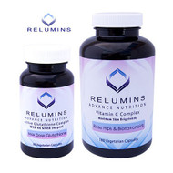 Relumins Advanced Nutrition Active 6X Glutathione Complex & Vitamin C MAX Capsules - Vegan, Vegetarian and Halal Certified