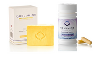 Relumins Yellow Acne Clear Soap + Relumins White Glutathioe Max Strength Booster