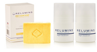 Relumins Professional Acne Clear Soap + Relumins Advance White - Whitening Deodrant Roll-On