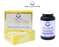 Relumins Yellow Acne Clear Soap + Relumins Advance Active Glutathione Complex