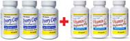 (Pack of 3) Ivory caps Skin Whitening Lightening Pills & Ivory caps Vitamin C Brightening Plus Set